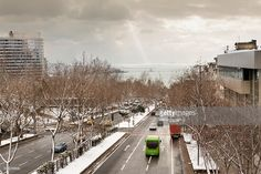 Stock Photo : Winter traffic in Istanbul