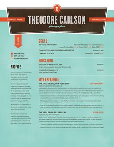 Resume Template | Nickel Try Turquoise – Loft Resumes