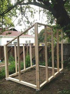 serre bois construction idée jardin diy