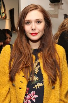 Elizabeth Olsen Photos - Elizabeth Olsen attends the AG Cher Coulter Event during Fall 2013 Fashion Week at Scoop NYC on February 2013 in New York City. - Cher Coulter Capsule Collection For AG Event - Fall 2013 Mercedes-Benz Fashion Week Elizabeth Chase Olsen, Elizabeth Olsen Scarlet Witch, Natural Hair Growth, Natural Hair Styles, Long Hair Styles, Daily Beauty, True Beauty, Celebrity Hairstyles, Red Hair