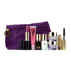 Estee Lauder - Time Zone Set: Cream SPF15   Skintone Illuminator   Night Repair   Eye Cream   Mascarano.01   Lipstickno.55   Glossno.07   Bag - 7pcs 1bag ** See this awesome image  : Makeup Sets