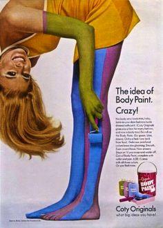 Coty Originals Body Paint ad, 1967. Via Christian Montone