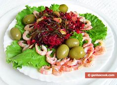 Laminaria Salad with Shrimp Recipe | Dietary Cookery | Genius cook - Healthy Nutrition, Tasty Food, Simple Recipes