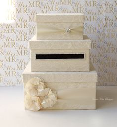 Lace Wedding Card Box Card Holder- (Custom Made to Order). $159.00, via Etsy.