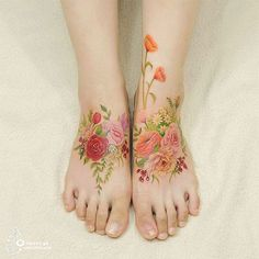 watercolor tatoos