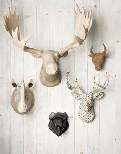 We love this quirky, tongue-in-cheek take on the ubiquitous taxidermy trend.