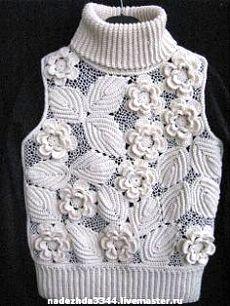 Fabulous Crochet a Little Black Crochet Dress Ideas. Georgeous Crochet a Little Black Crochet Dress Ideas. Art Au Crochet, Crochet Motifs, Freeform Crochet, Irish Crochet, Knit Crochet, Pull Crochet, Knitting Designs, Crochet Designs, Knitting Patterns