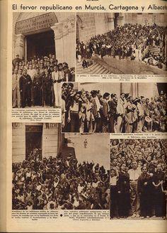 Familiares de los milicianos salidos de Albacete para los frentes de combate esperando la hora del reparto de comidas que en la institución La Gota de Leche costean el Ayuntamiento y la Diputación.