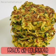 Fritos de Courgete Diet #receita #dieta #regime #light #emagrecer