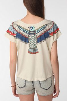 Truly Madly Deeply Egyptian Falcon Crop Tee