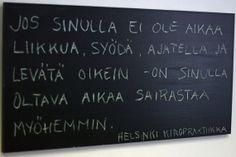 Helsinki Kiropraktiikka -huoneentaulu