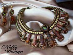 """""""CLEOPATRA"""" - Bead-embroidery - by NellyDesign"""