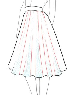 How-to-draw-a-flare-full-skirt-step-by-step-tutorial--8