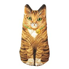 Boston Warehouse Kitten Quilted Cotton Oven Mitt (Kitten Oven Mitt), Brown (Animal)