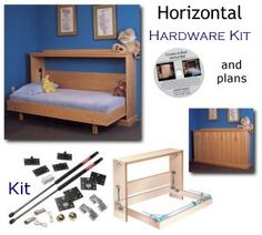horizontal murphy bed kit