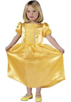 Girls Belle Yellow Princess Toddler Costume - Children Fantasy Costumes at Escapade