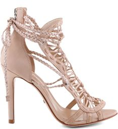 SANDÁLIA LACE HIGH HEEL NUDE