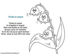 comptine : Timide et coquet French Poems, 1. Mai, French School, Literacy, Coquet, About Me Blog, Doodles, Snoopy, Education