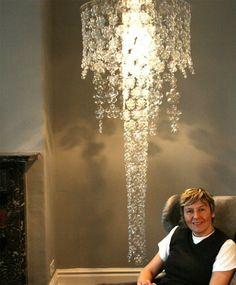 selber bauen Designer Lampe lampenschirm plastik flaschen