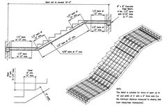 Steel Staircase Dimensions Building Guidelines Drawings Section B Concrete Construction Photos 90 - Stair Design Ideas Concrete Staircase, Iron Staircase, Concrete Steps, Staircase Design, Stair Design, Concrete Crafts, Staircases, Spiral Staircase Dimensions, Stainless Steel Staircase