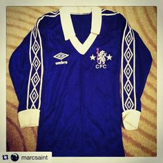 #Repost love this Chelsea Umbro shirt from @marcsaint  First ever Chelsea top.  #chelsea #cfc @umbro #umbro @chelseafc_shirts #footballshirtcollective #chelseafc #cfc #football #footballshirt #umbro #umbrofootball