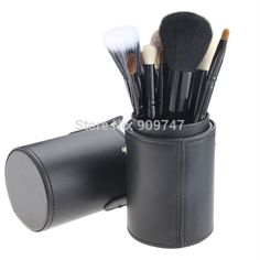 12.63$  Buy now - http://alif5c.shopchina.info/1/go.php?t=1877519428 - 12 PCS Makeup Brush Set Cosmetic Brushes Tool Kit with Leather Cup Holder Case Make up tool Free shipping 12.63$ #aliexpresschina
