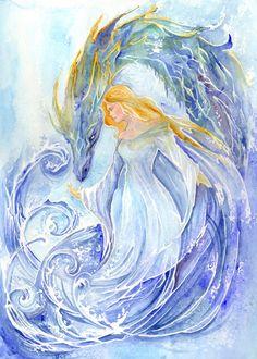 Elements - Water by ArtLair on DeviantArt Fantasy Dragon, Fantasy Art, Magia Elemental, 4 Elements, Water Dragon, Water Element, Gods And Goddesses, Art Drawings, Disney