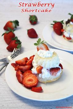 Nothing is more delicious than a light as air cake topped with sweet strawberries & cream. Except maybe a cute mini bundt strawberry shortcake! via @2CookinMamas