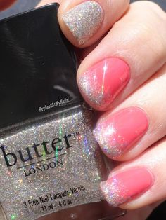 "Essie ""Cute as a Button"" and @butter LONDON ""Fairy Cake"""