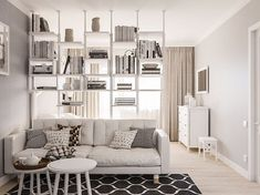 Studio-Apartment Dekorieren 2425 Likes 24 Kommentare DI Some great ideas or themes for Christmas hom Studio Apartment Layout, Small Apartment Interior, Condo Interior, Small Apartment Design, Studio Apartment Decorating, Small Apartments, Interior Livingroom, Interior Modern, Interior Paint