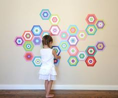 Puzzling Tiles Eco-Friendly Reusable Fabric Wall Decals by Pop & Lolli Wall Stickers, Wall Decals, Wall Art, Paint Brands, Textiles, Bold Colors, Wall Tiles, At Least, Product Launch