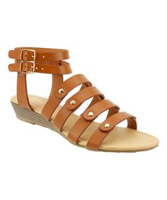 Look what I found on #zulily! Red Circle Footwear Cognac Sergeant Gladiator Sandal by Red Circle Footwear #zulilyfinds