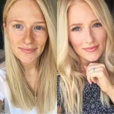 Bronze summer makeup || Youniques liquid touch foundation (velour) upscale lipstick