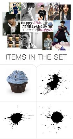"""Happy 27th Birthday Yongguk"" by carrie-lynn ❤ liked on Polyvore featuring art"