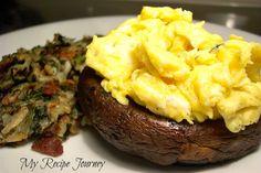 Portobello Stuffed with Creamy Scrambled Eggs