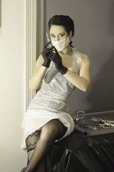 Zdravotní sestřičky a klinik (str. Plastic Aprons, Mini Skirts, Latex, Dresses, Fashion, Apron, Vestidos, Moda