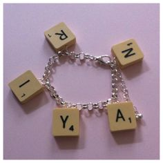 Scrabble Name Charm Bracelet - We Love Button Jewellery