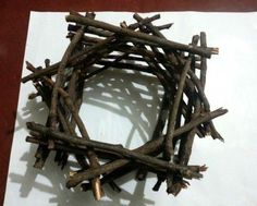 Como hacer una rustica lampara con ramitas