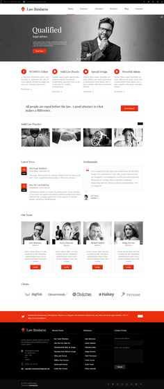 Lawyers #WordPress #themes are designed especially for law companies, attorneys…