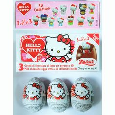 New!!! HELLO KITTY chocolate surprise eggs!