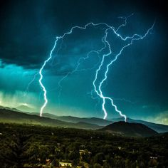 """tmophoto: """"Another awesome afternoon of lightning and rainbows in aspen. #lightning #aspen #colorado #thunderstorm """""""