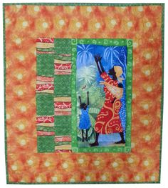 African Mother Quilted Wall Art by Sieberdesigns on Etsy