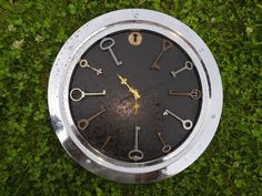 Industrial wall clock from repurposed materials. Wall Watch, Repurposed, Clock, Industrial, Home Decor, Watch, Decoration Home, Room Decor, Clocks
