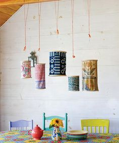 Put cherished fabric scraps to good use with a #DIY embroidery hoop lantern.