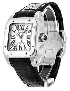 Pre-owned Cartier Santos 100 Unisex Automatic watch. Dream Watches, Cool Watches, Cartier Watches, Jewelry Watches, Cartier Santos 100, Cartier Panthere, Luxury Watches For Men, Wristwatches, Automatic Watch