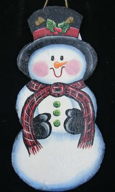holiday painting on slate | Slate Paintings and Signs for the Winter