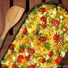 The Café Sucré Farine: Israeli Couscous & Orzo Salad w/ Fresh Mozarella, Corn & Cherry Tomatoes