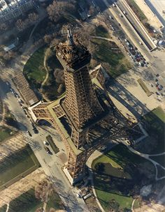 Eiffel tower from helicopter                                                                                                                                                                                 More