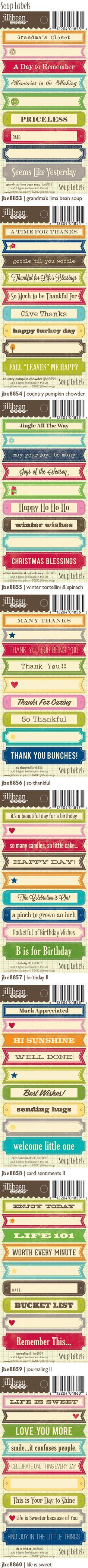 2012 Summer Soup Labels by Jillibean Soup (via the Jillibean Soup blog).