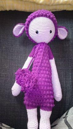 LUPO the lamb made by Sandra S. / crochet pattern by lalylala